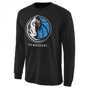 NBA Tee-Shirt Basket Dallas Mavericks Homme Noir Noches Enebea Long Sleeve