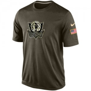 Nike T-Shirt De Basket Dallas Mavericks Olive Salute To Service KO Performance Dri-FIT Homme