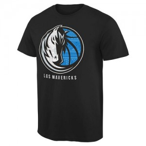 NBA Tee-Shirt De Dallas Mavericks Noir Homme Noches Enebea