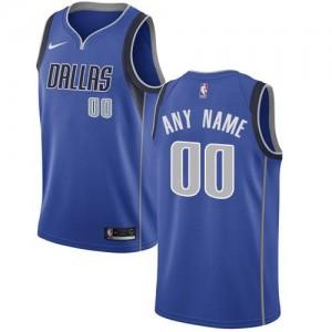 Nike NBA Personnalise Maillot De Mavericks Icon Edition Bleu royal Enfant