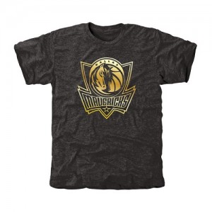 NBA T-Shirt Basket Mavericks Gold Collection Tri-Blend Homme Noir