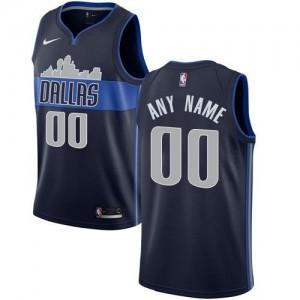 Personnalise Maillot Basket Mavericks Statement Edition Nike Enfant bleu marine