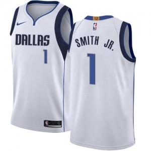 Maillot Basket Dennis Smith Jr. Mavericks Association Edition Nike No.1 Enfant Blanc