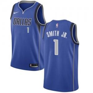 Maillots De Dennis Smith Jr. Dallas Mavericks Bleu royal Icon Edition Nike Homme #1