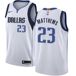 Nike Maillots De Basket Matthews Dallas Mavericks Association Edition Enfant No.23 Blanc