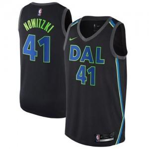 Nike Maillots Nowitzki Mavericks Noir City Edition Enfant #41