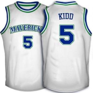 Maillot Kidd Mavericks No.5 Blanc Homme Throwback Adidas