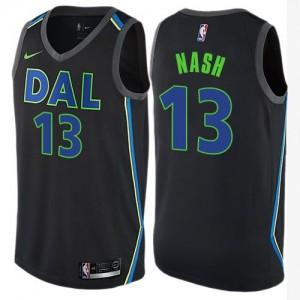 Maillot Basket Nash Dallas Mavericks City Edition Nike #13 Noir Enfant