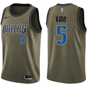 Nike NBA Maillots Basket Kidd Dallas Mavericks Salute to Service Homme vert No.5