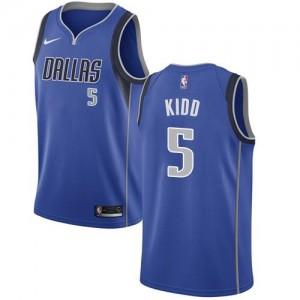 Maillots Basket Kidd Mavericks Icon Edition Nike Homme Bleu royal No.5