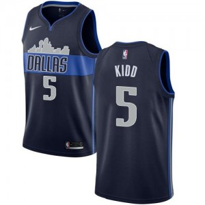 Nike NBA Maillots Kidd Mavericks #5 bleu marine Statement Edition Homme