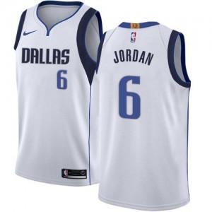 Nike Maillot Basket DeAndre Jordan Dallas Mavericks Enfant No.6 Association Edition Blanc