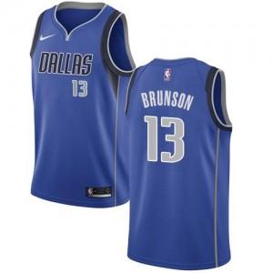 Nike NBA Maillots De Jalen Brunson Mavericks Homme Bleu royal No.13 Icon Edition