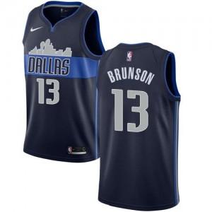 Nike NBA Maillot De Brunson Dallas Mavericks bleu marine Homme #13 Statement Edition
