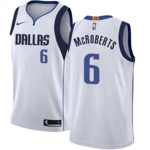 Nike Maillots McRoberts Mavericks Enfant Association Edition Blanc No.6