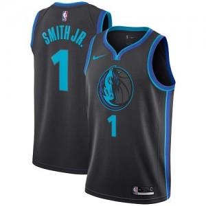 Maillot Basket Dennis Smith Jr. Mavericks #1 City Edition Homme Noir de carbone Nike