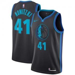 Nike NBA Maillot Basket Dirk Nowitzki Dallas Mavericks Noir de carbone Enfant #41 City Edition