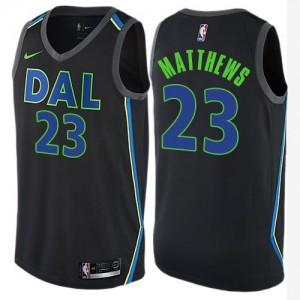 Maillot Basket Wesley Matthews Dallas Mavericks Nike City Edition Enfant No.23 Noir