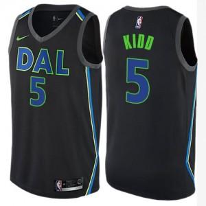 Nike Maillots De Basket Kidd Dallas Mavericks Noir Enfant No.5 City Edition