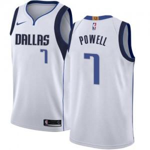 Nike NBA Maillots De Basket Powell Dallas Mavericks Enfant #7 Blanc Association Edition