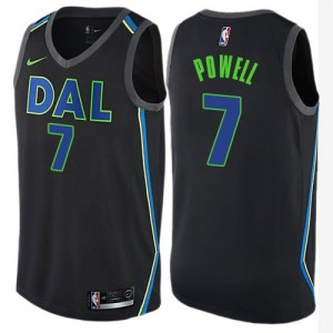 Nike NBA Maillot De Dwight Powell Dallas Mavericks Enfant Noir No.7 City Edition