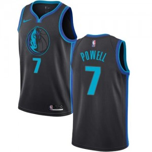 Nike NBA Maillots De Dwight Powell Mavericks City Edition Noir de carbone #7 Enfant