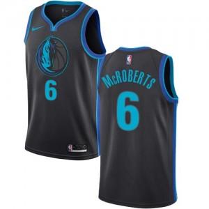 Nike Maillots De Basket McRoberts Dallas Mavericks Enfant Noir de carbone City Edition #6