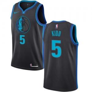 Nike Maillots De Basket Jason Kidd Mavericks Homme No.5 City Edition Noir de carbone