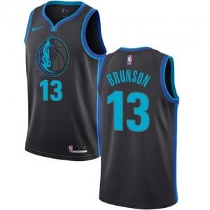 Nike NBA Maillots Basket Brunson Dallas Mavericks Noir de carbone #13 Homme City Edition