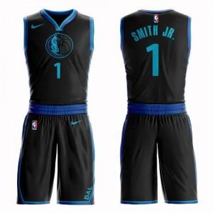 Maillots De Basket Dennis Smith Jr. Dallas Mavericks Suit City Edition #1 Nike Noir Homme