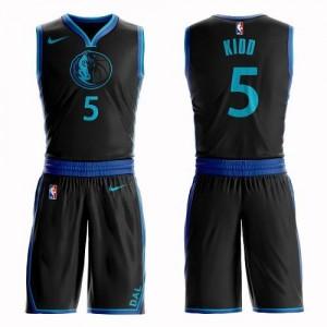 Nike NBA Maillots De Jason Kidd Dallas Mavericks Enfant Noir Suit City Edition #5