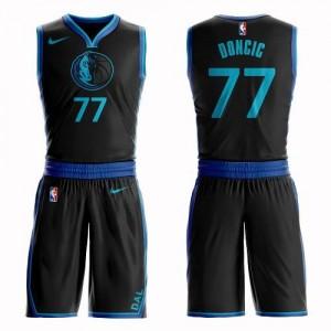 Nike Maillot De Doncic Dallas Mavericks #77 Noir Enfant Suit City Edition