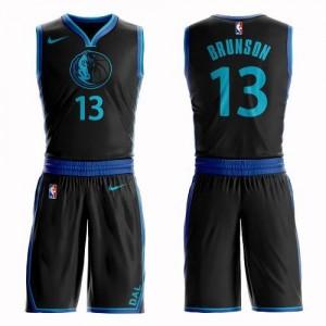 Nike NBA Maillots De Brunson Dallas Mavericks Homme Noir Suit City Edition #13