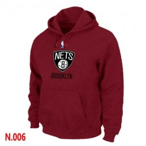 Hoodie De Nets Homme Pullover Rouge