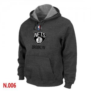 Sweat à capuche Basket Brooklyn Nets Pullover Homme Gris foncé