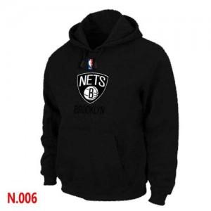 NBA Sweat à capuche De Nets Homme Noir Pullover