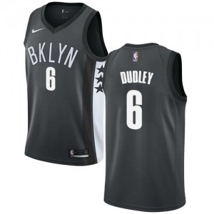 Nike NBA Maillots De Basket Jared Dudley Nets Homme No.6 Gris Statement Edition