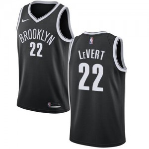 Maillots LeVert Nets Nike No.22 Icon Edition Homme Noir