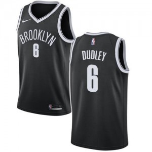 Nike Maillots De Jared Dudley Brooklyn Nets #6 Enfant Noir Icon Edition