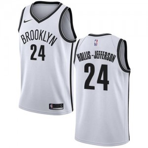 Maillot De Hollis-Jefferson Nets Enfant Association Edition Nike Blanc No.24