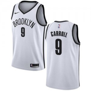 Nike NBA Maillots Basket Carroll Nets Association Edition Blanc Enfant No.9
