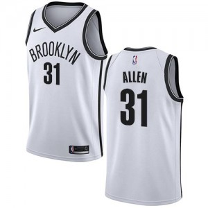Maillots De Basket Allen Brooklyn Nets No.31 Nike Association Edition Blanc Enfant