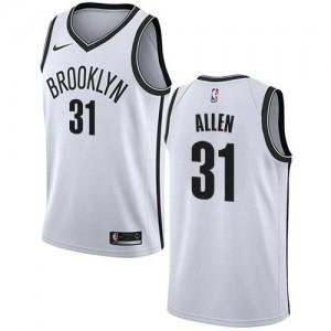 Maillots De Basket Allen Brooklyn Nets No.31 Nike Association Edition Blanc Enfant