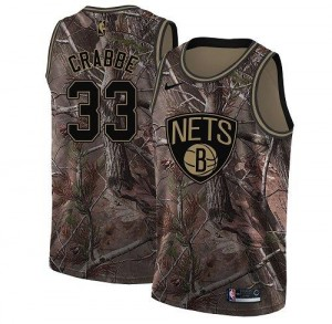 Maillots Basket Allen Crabbe Brooklyn Nets Nike Realtree Collection Homme No.33 Camouflage