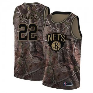 Nike NBA Maillots De Basket LeVert Brooklyn Nets No.22 Homme Camouflage Realtree Collection