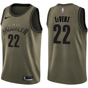 Nike NBA Maillot Caris LeVert Brooklyn Nets vert Salute to Service Homme #22