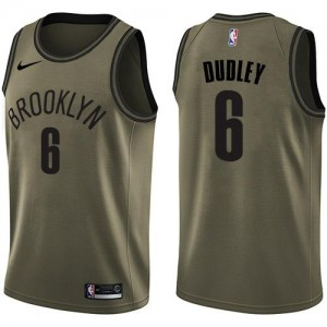 Nike NBA Maillot Dudley Nets Homme No.6 vert Salute to Service