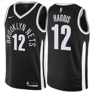 Nike Maillots Harris Brooklyn Nets #12 City Edition Noir Enfant