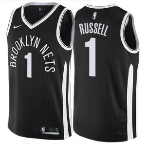 Maillot De D'Angelo Russell Brooklyn Nets Enfant City Edition Nike Noir #1