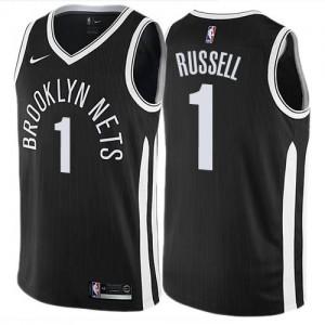 Maillot De D'Angelo Russell Brooklyn Nets Enfant City Edition Nike Noir #1
